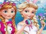Anna e Elsa moda páscoa