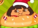 Dora comer hambúrguer