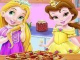 Pizza das bebês Rapunzel e Bela