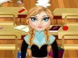 Anna Frozen limpar sala de aula