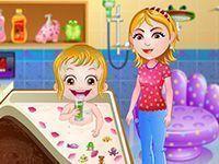 Bebê Hazel banheira de pétalas