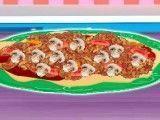 Pizza recheio molho funghi