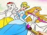 Pintar desenho das princesas