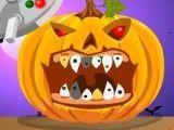 Abóbora do Halloween dentista