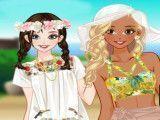Maquiar e vestir amigas no verão