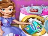 Princesa Sofia lavar roupas
