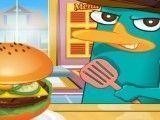 Perry preparar hambúrguer