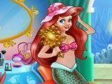 Princesa Ariel fazer maquiagem