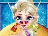 Cuidar do nariz da Elsa