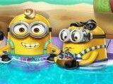 Minions limpeza facial no spa