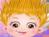 Bebê Hazel cabeleireiro