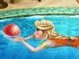 Elsa aula de natação