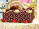 Decoração do bolo quadrado