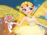 Vestido de noiva e maquiagem da fada