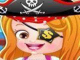 Bebê Hazel piratinha