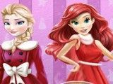 Elsa e Ariel decorar jantar