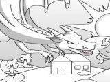 Pintar dragão de fogo