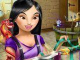 Princesa Mulan fazer espada