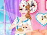 Vestir Barbie veterinária
