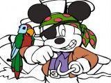 Mickey pirata pintar desenho