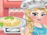 Fazer macarrão com Elsa