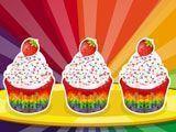 Fazer cupcakes de arco-íris