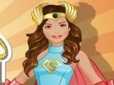 Estilista de super herói menina