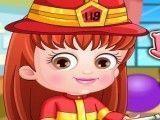 Vestir bebê Hazel bombeira