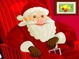 Papai Noel vender enfeites de Natal