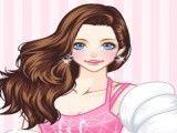 Garota roupas de galã