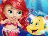 Cuidar do peixe da bebê Ariel