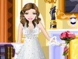 Vestir roupas de noiva elegante
