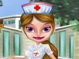 Limpeza de pele da enfermeira