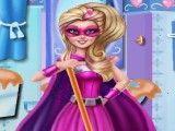 Super Barbie limpeza do banheiro