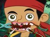 Cuidar dos dentes do Jack pirata