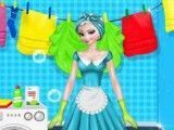 Elsa limpar cozinha
