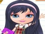 Roupas escolar da bebê Barbie