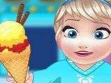 Preparar sorvete da Elsa bebê