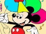 Mickey aniversariante colorir