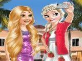 Rapunzel e Elsa selfie