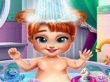 Anna bebê na banheira