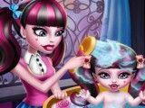 Draculaura Monster High banho da bebê