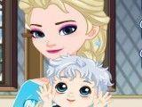 Cuidar do bebê zumbi da Elsa