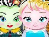 Frankie e Elsa bebê cuidados