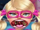 Médico da garganta irmã da Barbie