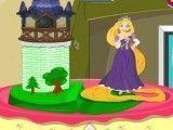 Decoração do bolo da princesa Rapunzel