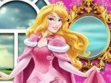 Princesa Aurora cuidar da pônei