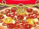 Fazer pizza de calabresa e pimentões