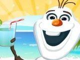 Olaf fazer suco na praia