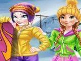 Roupas de esquiar da Anna e Elsa